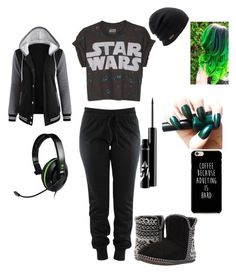 """""""Me as a Youtube Gamer"""" by jackismyhero ❤ liked on Polyvore featuring Foamtreads and Coal"""