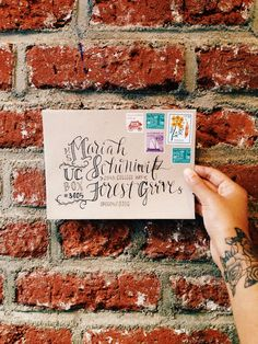 gorgeous way to address a letter