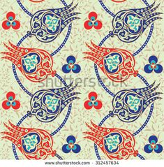 Seamless Traditional Turkish Ottoman Floral Pattern