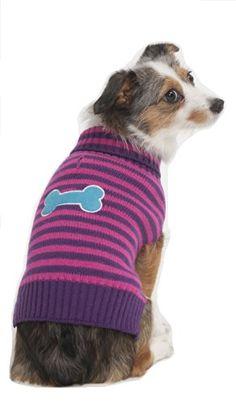 Fashion Pet Striped Bone Patch Dog Sweater, Medium, Pink Fashion Pet http://www.amazon.com/dp/B00K780UJG/ref=cm_sw_r_pi_dp_SLpjwb01WQXMD