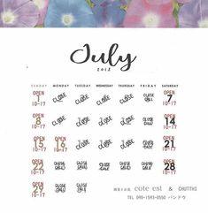 #2018.7月予定 #夏休みがはじまりますので営業日も変更になることもございます #ご来店の際はフェイスブックInstagramでご確認くださいませ   #ならまち #coteest #chutthi  #セール開催中