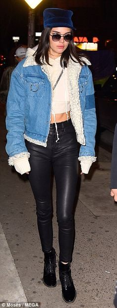 "Do it in denim like Kendall Jenner this season Click ""Visit"" to buy #DailyMail"