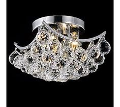 Corona Modern Crystal 10-Inch Square Ceiling Light
