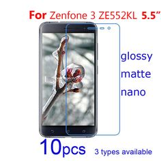 10pcs Clear/matte/Nano Anti explosion mobile phone Screen Protector Guard Protective Films for ASUS Zenfone 3 ZE552KL/AR ZS571KL #Affiliate