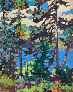 Frank (Franz) Johnston - Canada / Group of Seven - Fall, Algoma, Oil on Panel x Contemporary Landscape, Abstract Landscape, Landscape Paintings, Oil Paintings, Tom Thomson, Emily Carr, Canadian Painters, Canadian Artists, Group Of Seven Paintings