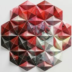 A selection of the latest paper art creations by artist Matt Shlian, who transforms simple sheets of paper into impressive geometric sculptures, composed of c Matt Shlian, Paper Engineering, Origami Paper, Origami Quilt, 3d Paper, Oragami, Paper Artist, Paper Folding, Altered Books