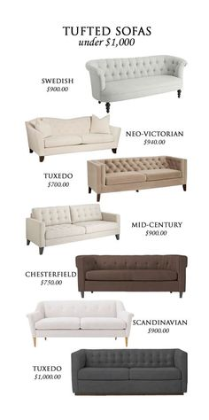 sofas under 1000$ absolutely love suble hints of victorian in my home!!
