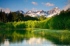 CHUGACH NATIONAL FOREST  Pond with Mt. Alice, Chugach National Forest, Kenai Peninsula, Alaska