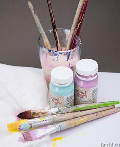Как очищать кисти от акриловой краски?