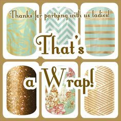Party end. Jamberry. Facebook. Party. That's a wrap.