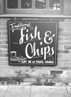 a truly British tradition, fish 'n' chips on a Friday!