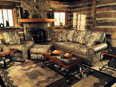 realtree camo couch - it's perfect for mancave. #realtreecamo