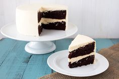 With St. Patrick's Day right around the corner, there's no better way to celebrate than with this boozy chocolate cake loaded with two well known Irish alcoholic drinks: Guinness stout beer and Irish cream liqueur.