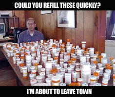 This man needs a med rec, not a refill.