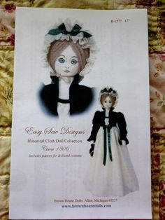 Cloth Doll Pattern easy sew pattern pattern by SheilaKayTreasures