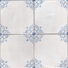 Hand made and hand painted painted tiles featuring patterns Douglas Watson Painted Tiles, Hand Painted, Delft Tiles, Compass Tattoo, Corner, Interiors, Ornaments, Patterns, Studio