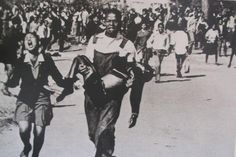 The Most Powerful Image of Apartheid Struggle: Mbuyisa Makhubu, then carries the body of Hector Pieterson, the first student to be killed by South African Police in Soweto in June with sister Antoinette weeping uncontrollably at his side. Pretoria, Nelson Mandela, Apartheid Museum, Steve Biko, Children's Crusade, Civil Rights Movement, June 16, Documentary Photography, Historical Pictures