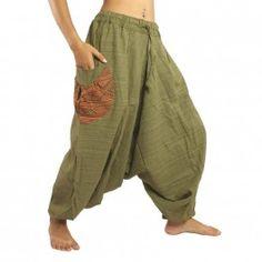 Baggy pants Cottonmix green