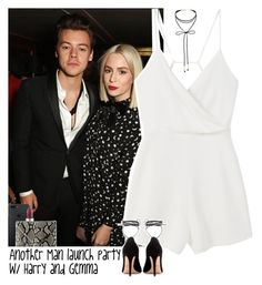 """""""Another Man launch party w/ Harry and Gemma"""" by lottieaf ❤ liked on Polyvore featuring MAC Cosmetics, MANGO, Hunting Season, Miss Selfridge, Valentino, OneDirection, harrystyles and gemmastyles"""
