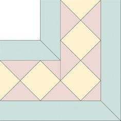 Diamond Star Squares Quilt Border Pattern