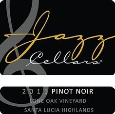 2010 Jazz Cellars Lone Oak Vineyard Santa Lucia Highlands Pinot Noir 750 mL Santa Lucia Highlands, Jazz, Asparagus Tart, Santa Barbara County, Wine Reviews, Catio, Cabernet Sauvignon, Pinot Noir, Wines