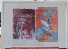"""""""Popart"""" und """"Gepunktet!"""" versethen sich sehr gut zusammen im Rahmen. by AbstrART painting, acryl, abstract"""
