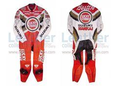Daryl Beattie Suzuki Lucky Strike Leathers 1995 MotoGP  https://www.leathercollection.com/en-we/daryl-beattie-suzuki-lucky-strike-leathers-1995-motogp.html  #Daryl_Beattie_Suzuki_Lucky_Strike_Leathers_1995_MotoGP, #Lucky_Strike_Leathers, #Suzuki_Leathers