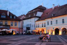 Piata Mare, Sibiu, Romania photo on Sunsurfer Sibiu Romania, My Dream, Beautiful Places, Street View, Mansions, House Styles, City, World, Spaces