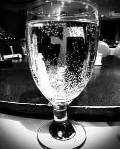 Black and White Glass At Night