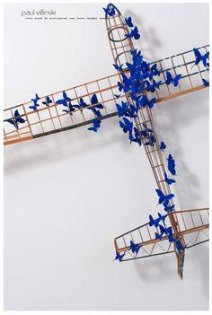 Paul Villinski's pieces of art (II) Artistic Installation, Wall Installation, Sculpture Art, Sculptures, Framed Art, Wall Art, Butterfly Art, Art Drawings, Art Pieces