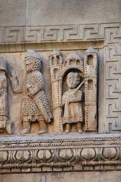 Catedral de Fidenza,relieve romanico  Italia