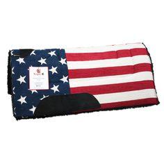 USA Flag Western Saddle Pad Triple-E