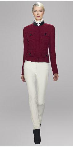 BACK TO BRICK - MUST HAVE: Brick Balance Tweed Pocket Jacket w/ Fannel White Stretch Cotton Frankie Pant Skinny Fit Slim Leg