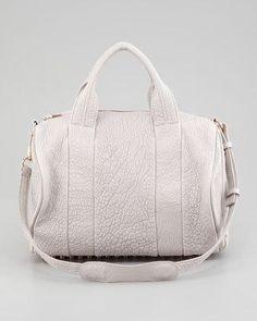 Alexander Wang Rocco Stud-Bottom Satchel Bag, Lilac/Rose Golden