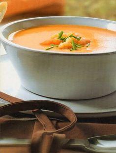 Wortel Paprikasoep. Echt een heerlijke smaakvolle soep. Wortel en paprika smaken uitstekend bij elkaar. Pureed Food Recipes, Soup Recipes, Vegetarian Recipes, Cooking Recipes, Healthy Recipes, Healthy Soup, Healthy Pumpkin, Good Food, Yummy Food