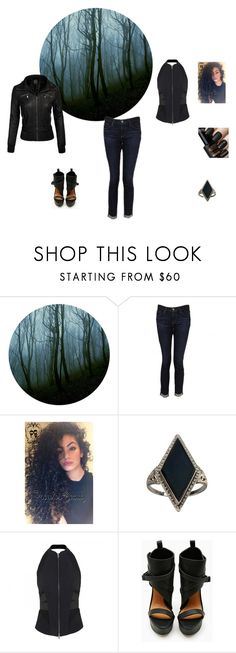 """""""midnight dreary"""" by shaina-elise-hamby ❤ liked on Polyvore featuring AG Adriano Goldschmied, Gypsy, Donna Karan and Shoe Cult"""