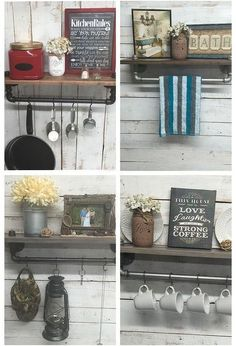 rustic farmhouse inspired shelf, shelving ideas, Use in Kitchen Bath or Entryway