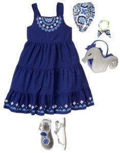 NWT Girls 6 Gymboree HOLIDAY SHINE Navy Blue COTTON VELVET sleeveless DRESS GEMS