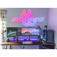 "838 Likes, 5 Comments - Mal - PC Builds and Setups (@pcgaminghub) on Instagram: ""I've been seeing those triangle light things more and more recently, and although I didn't like…"""