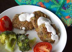 Kesäiset nyhtökaurapihvit   Vegaanin ruokavuosi Meatloaf, Eggs, Breakfast, Food, Morning Coffee, Essen, Egg, Meals, Yemek
