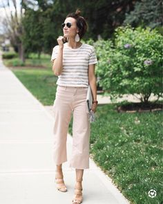 "395 Likes, 6 Comments - Kilee Nickels // Style & Hair (@onelittlemomma) on Instagram: ""If you're a stripe addict like me, this tee is one you need to add to your collection. The tan and…"""