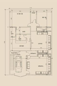 House plan for 25 feet by 52 feet plot plot size 144 for 2400 sq ft house plans 3d