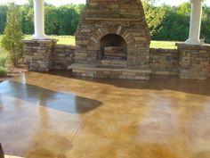 Outdoor Stained Concrete Maintenance | Sandbothe Concrete Design In  Jefferson City, MO   Service Noodle
