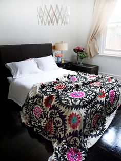 love the blanket, love the black and white with bright colors, particularly these colors