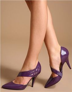 purple shoes-love these. Don't know where I would wear them but they are great!