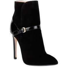 Emilio Pucci Suede And Patent Ankle Boot