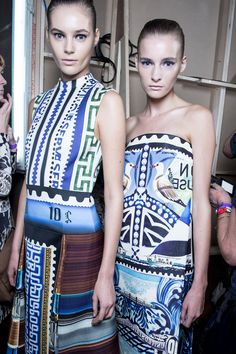 Check Mary Katrantzou's SS13 backstage snaps as seen in the Topshop Showspace. #TOPSHOP #LFW #SS13 #MARYKATRANTZOU