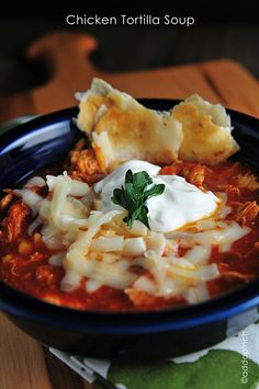 chicken tortilla soup - delicious soup that has tons of flavor! Main dish supper star!  from addapinch.com