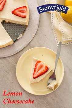 This delicious lemon cheesecake is lightened up with Stonyfield yogurt ...