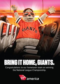 Congrats to the San Francisco Giants for making it into the World Series. Who watched the game from 35,000 feet?